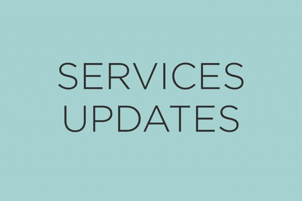 Services updates feature image