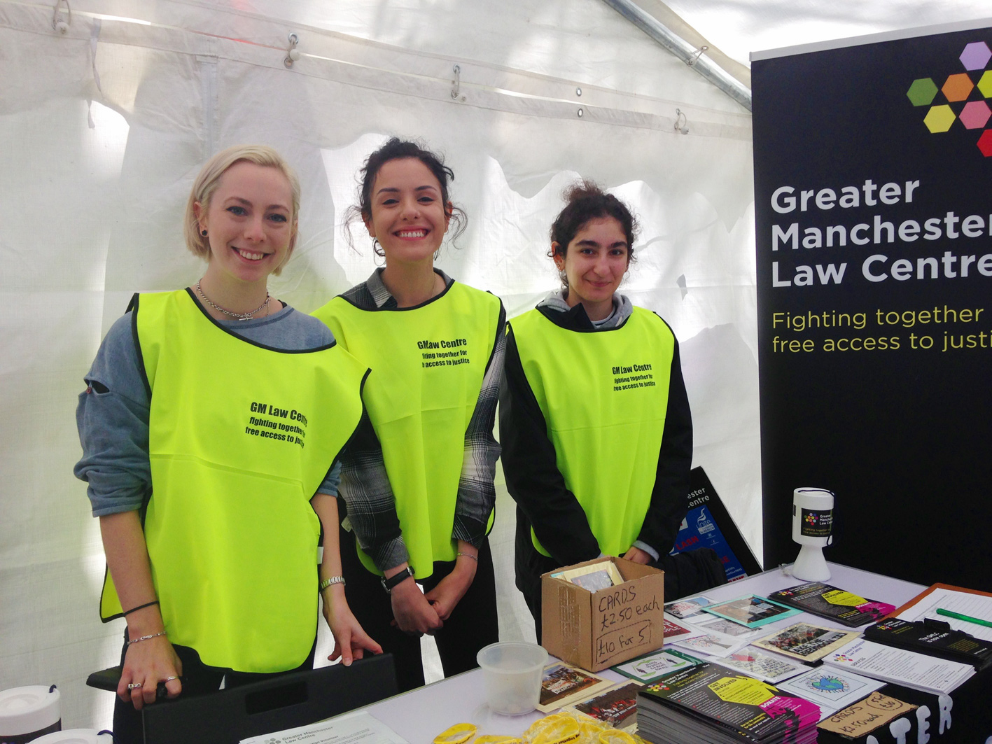 Local students volunteering in Manchester