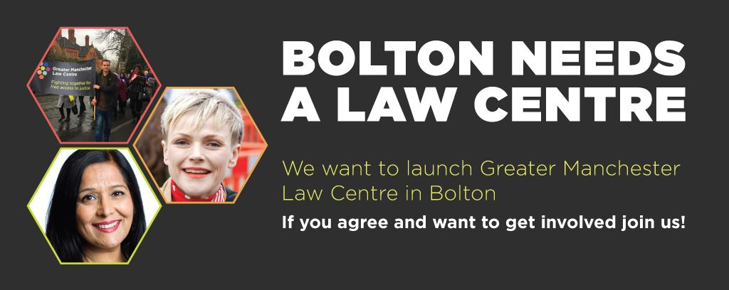 Bolton Needs a Law Centre Launch 2nd Feb