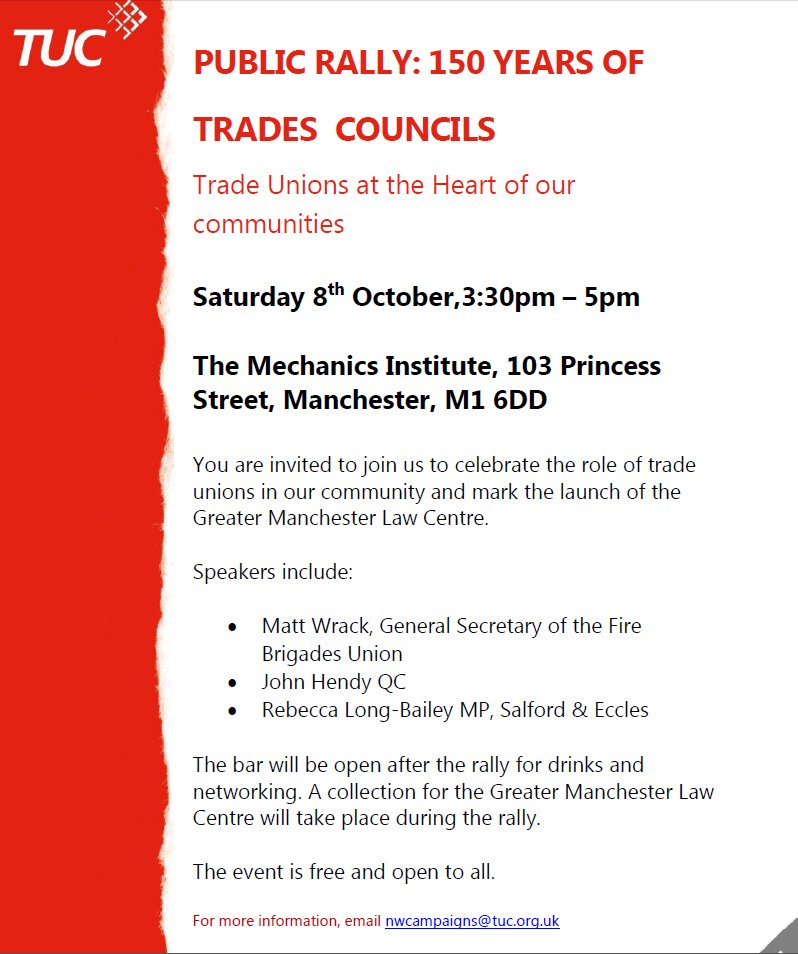 Celebrate Trade Unions Rally Flyer