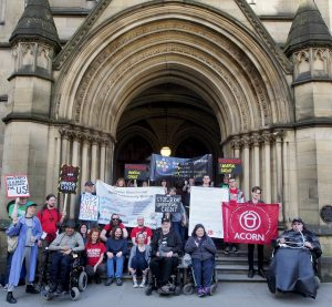 Groups protest Universal Credit Evictions