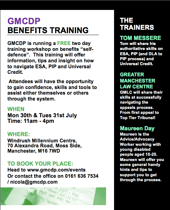 GMCDP Benefits Training