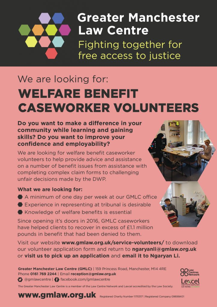 GMLC Caseworker Recruitment A4 flyer