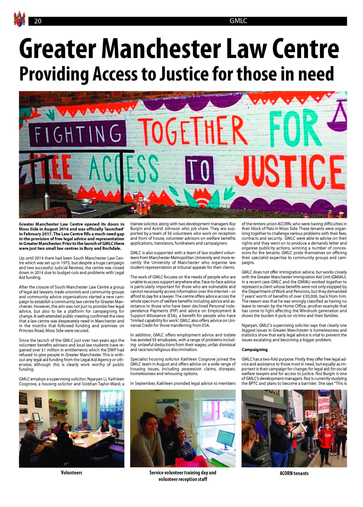 Article in Law Society Messenger