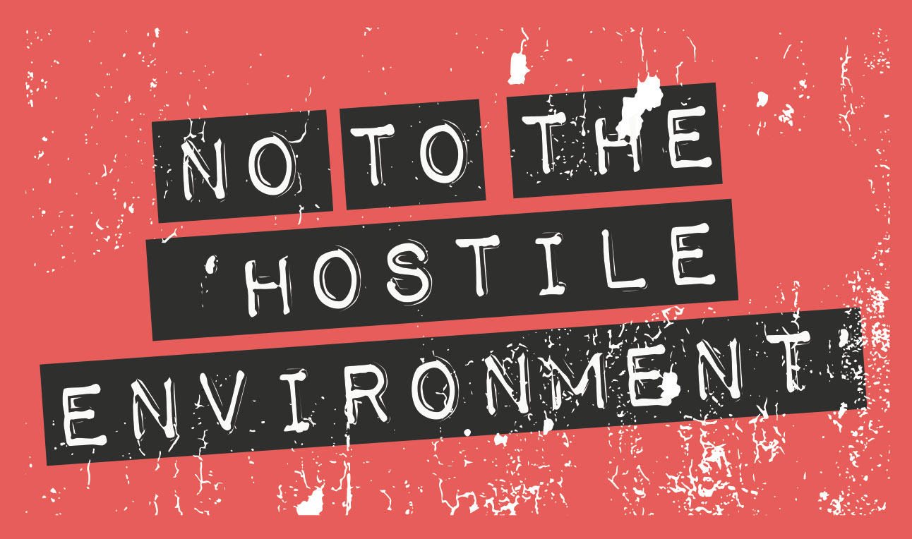 no to hostile environment