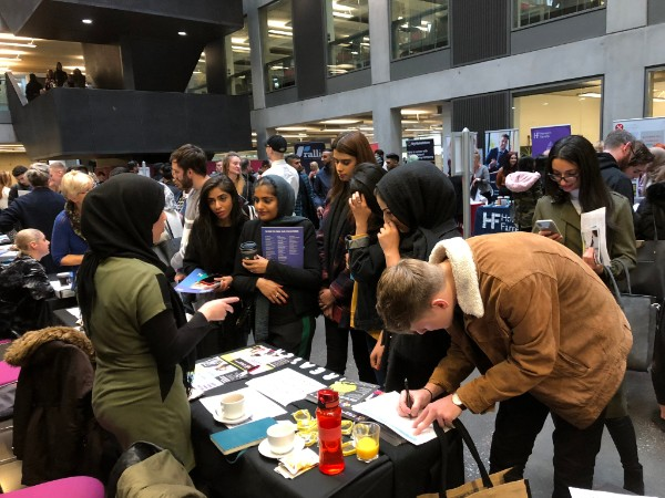MMU careers fair stall