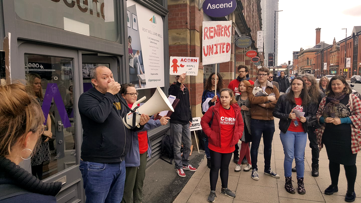 ACORN Manchester campaigning
