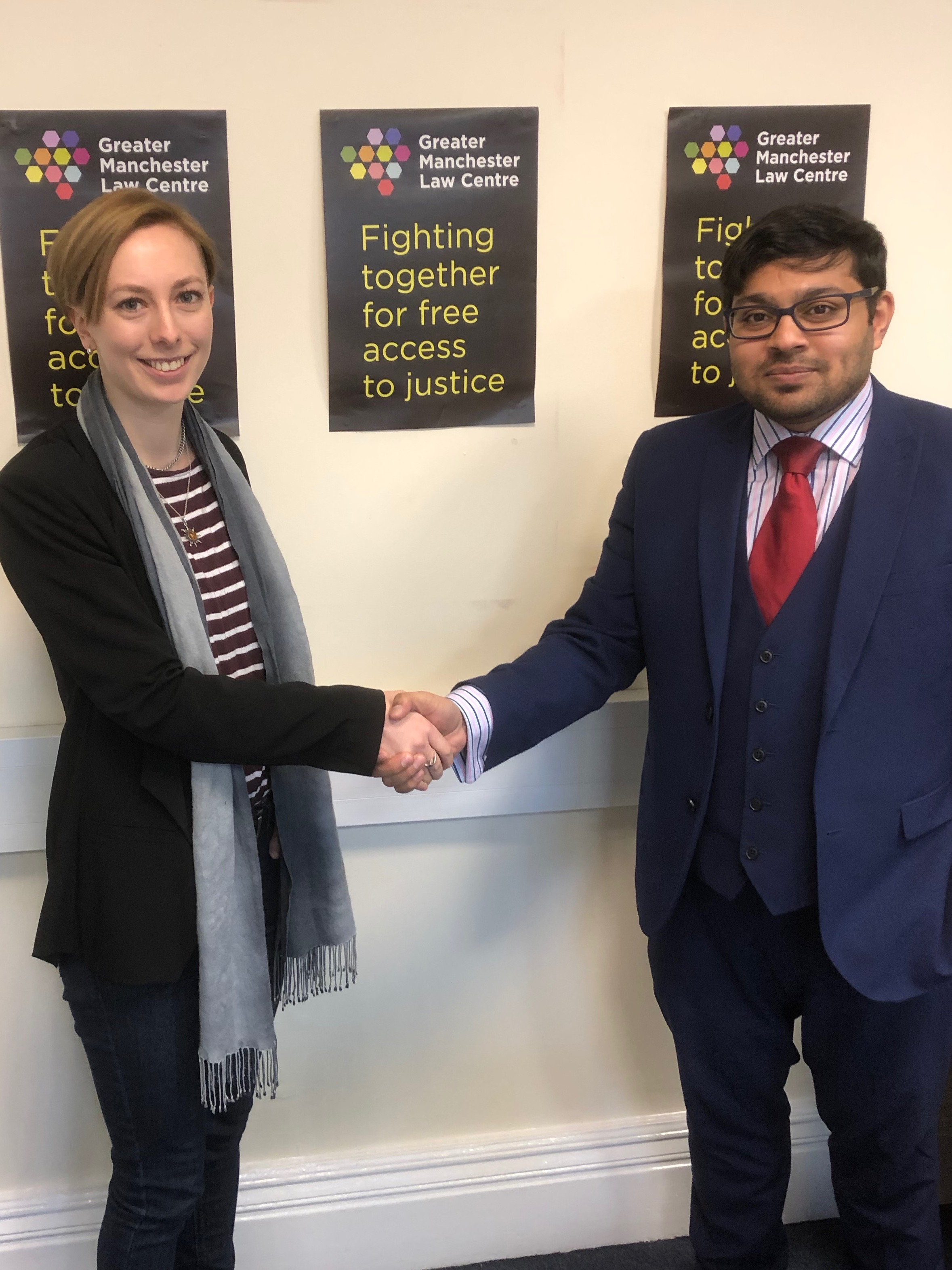 GMLC Development Manager Roz Burgin (left) with Alison Law's Habib Rahman
