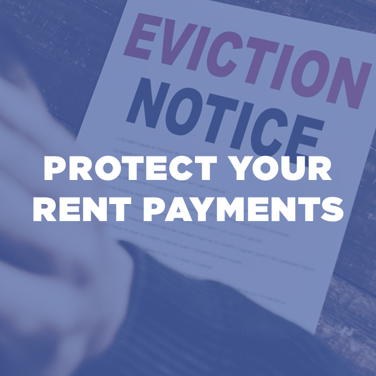 Protect Your Rent Payments button