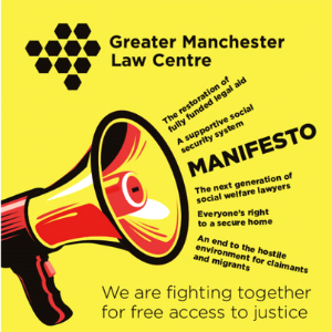 GMLC manifesto front cover showing megaphone