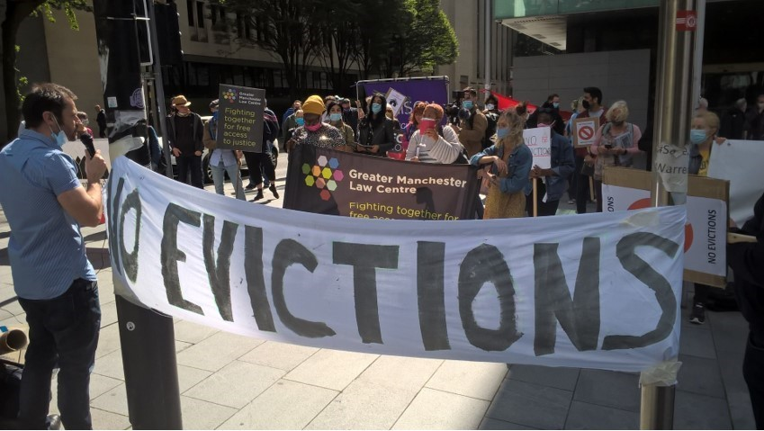 No Evictions demonstration